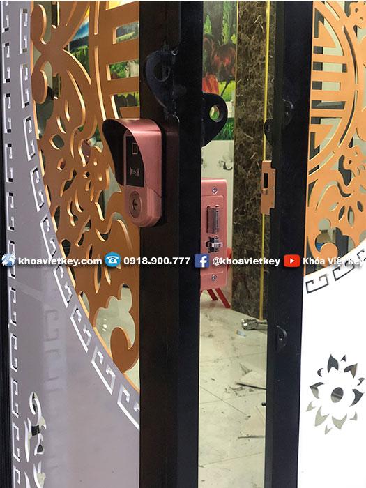 khóa 2 vân tay cao cấp chống nước Denso Lock TY23