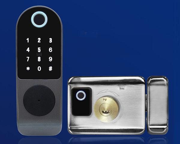khóa rim lock cửa cổng vân tay 2 chiều Denso Lock gl01 ttlock