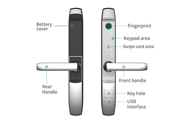 khóa thông minh wifi cửa nhôm xingfa denso lock ty02