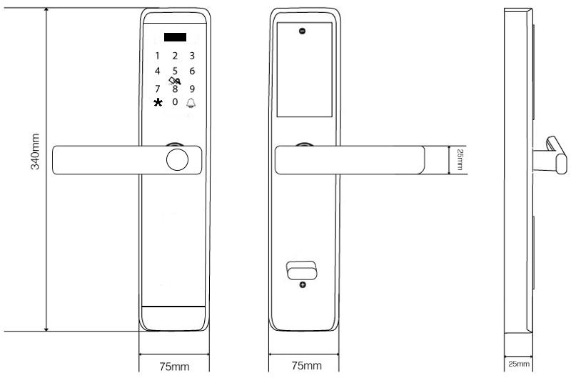 khóa vân tay denso lock fp05