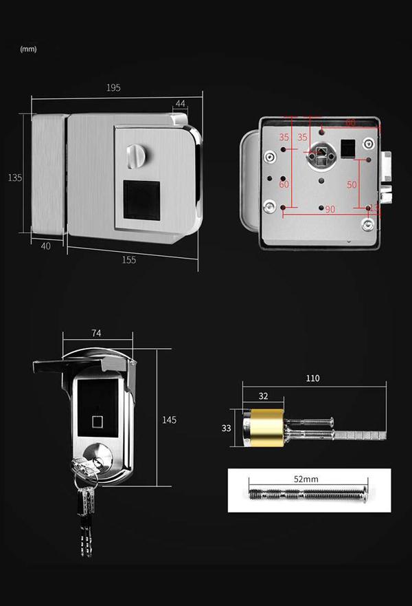  Khóa cổng điện tử chống nước Denso lock TY22