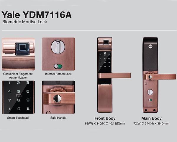 Khóa Vân Tay Yale YDM7116A RB