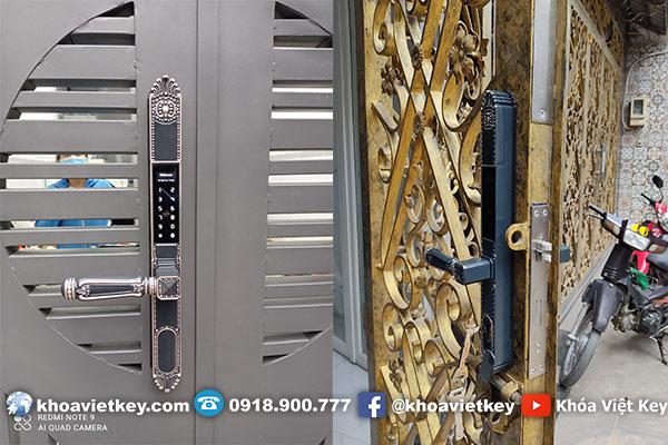 Lắp Đặt Khóa Cổng 2 Vân Tay Cao Cấp Denso Lock G2 Luxury