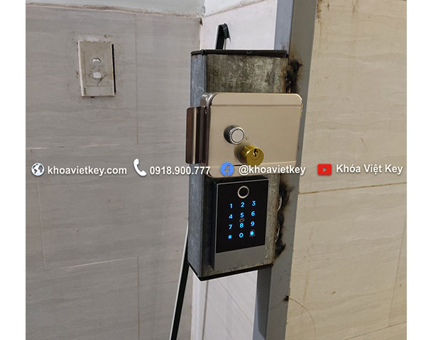 khóa điện tử thông minh cho cửa cổng nhà trọ k2f