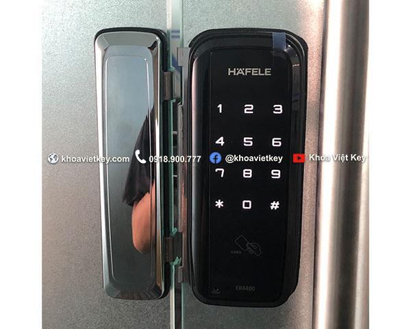 lắp đặt khóa vân tay hafele er4400 cho cửa kính cường lực