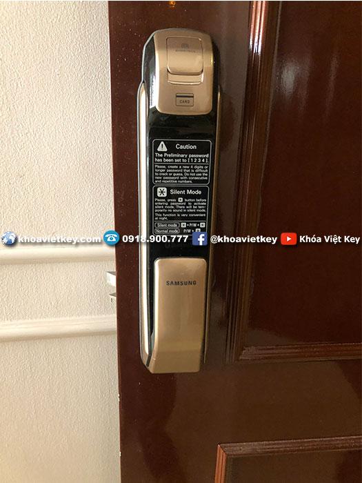 lắp đặt khóa vân tay samsung shp dp728
