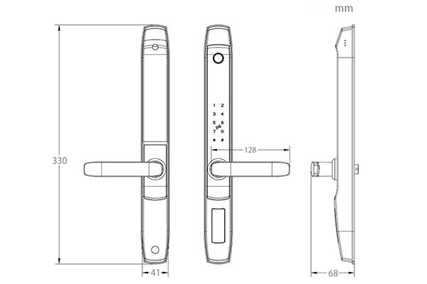 thông số kỹ thuật khóa vân tay wifi cửa nhôm xingfa denso lock ty02